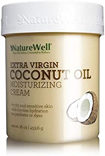 NATURE WELL Extra Virgin Coconut Oil Moisturizing Cream, 16 oz.