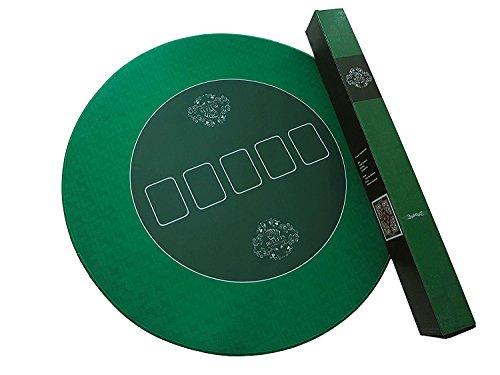 Bullets Playing Cards Runde Profi Poker Tischauflage 70cm Pokertuch – Pokerteppich – Pokermatte - grün