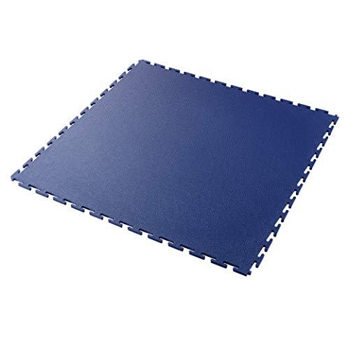 Industrie K490 Interlocking Garage Werkstatt Gym Retail PVC Bodenfliesen blau