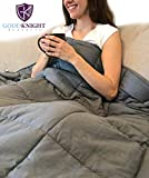 Good Knight Weighted Blanket | 60'x80' 17 lbs | Hypoallergenic Poly-Pellets Washable 100% Cotton Material