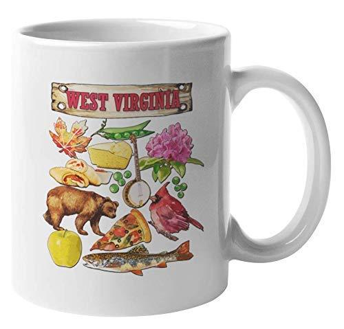 West Virginia - Taza de regalo para turistas, viajeros, hombres o mujeres nacidas en Virginia Occidental, ciudadanos estadounidenses, mamá, papá, residente y extranjero