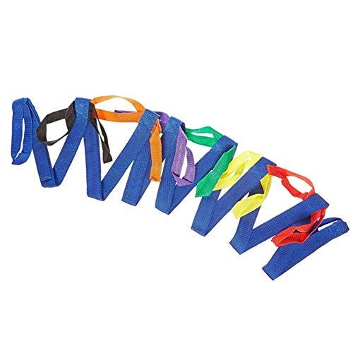 waterfaill Laufseil, Kindersicherheit Laufseilschlaufen mit bunten Griffen, strapazierfähiges Nylon-Laufseil für Kinder im Vorschulalter Kleinkinder Kinder (12 Schlaufen)