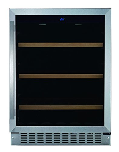 """24"""" Under Counter Beverage Center with LED Display, Sabbath Mode and Door Alarm, Stainless Steel/Glass"""