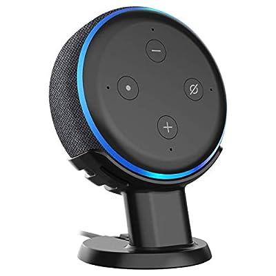 oGoDeal Stand for Echo Dot 3rd Generation Speaker Holder Dot Accessories Desk Table Mount Bracket (Black) from oGoDeal
