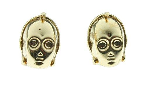 Star Wars Adult C3Po 3D Stud Earrings