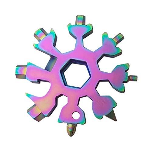 YueLove No Touch Türöffner Handwerkzeug-18 in 1 Schneeflocke Multi-Tool, Schraubendreher-Flaschenöffner, Outdoor-Schraubenschlüssel Multi-Tool Schneeflockenschlüssel Coole Gadgets, tolles