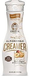 Califia Farms Hazelnut Almondmilk Coffee Creamer with Coconut Cream, 25.4 Oz | Dairy Free | Plant Ba