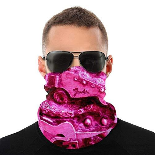 Retro rosa metal guitarra eléctrica versátil multifunción headwear cuello polaina pasamontañas casco...
