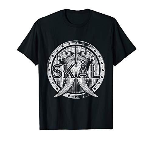 Wikinger T Shirt - Skal Odin Trinkspruch Walhalla Nordmänner T-Shirt