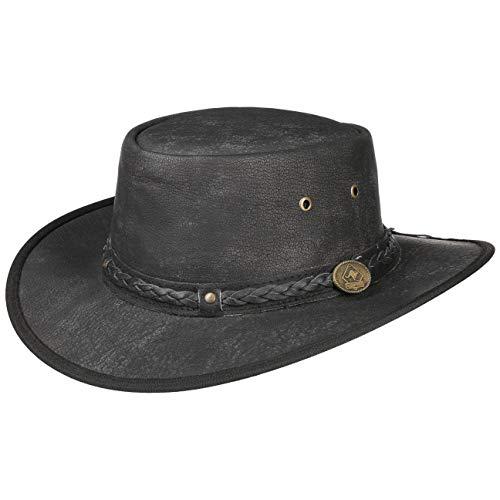 Scippis Chapeau en Cuir Springbrook (XL (60-61 cm) - Noir)