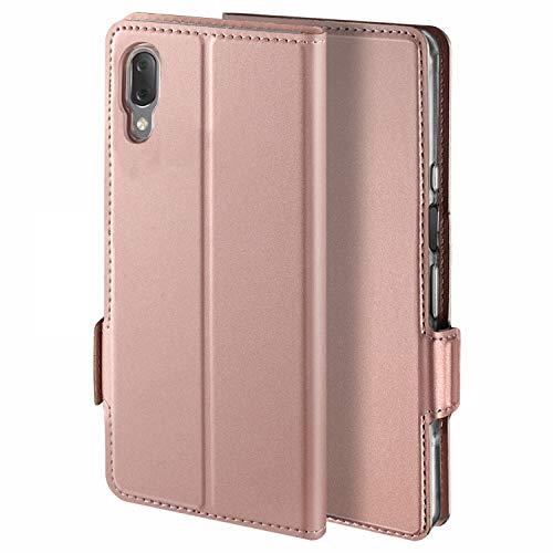 YATWIN Handyhülle für Sony Xperia L3 Hülle Premium Leder Flip Schutzhülle für Sony Xperia L3 Tasche, Rose Gold …