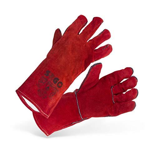 Stamos Germany SWG02-REDK Guantes de Soldadura Guantes Soldador Soldar Guantes de Trabajo Protección (Tipo A/B, Talla 10/XL) rojo