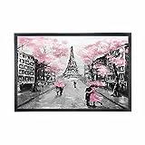 Alfombrilla de goma para puerta de interior lavable de la Torre Eiffel de París Francia para amantes de la puerta delantera, 15 x 25 pulgadas