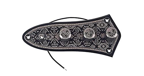 Alnicov Vintage Cablato Pannello di Controllo Cablaggio Manopole Interruttore Superficie Liscia Piastra di Controllo per Jazz Bass Parti di Ricambio