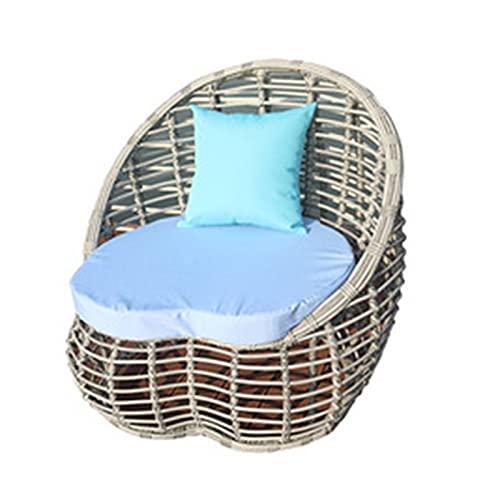 Conjunto de sofás Muebles de Mimbre al Aire Libre, jardín del Hotel Conjunto diálogo Ocio, Patio al Aire Libre sofá de Mimbre combinación (Color : Style3)