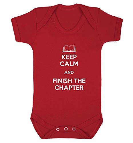 Flox Gilet pour bébé Motif Keep Calm Finish - Rouge - 18-24 mois