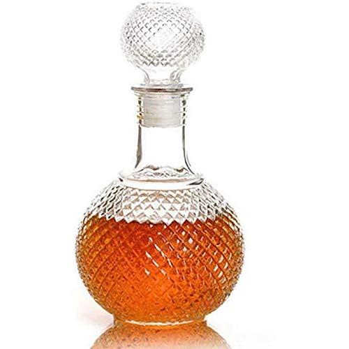 Creatividad con Stopper Whiskey Decanter 250ml / 500ml / 1000ml Dispensador De Cristal Vidrio Bourbon Escocés Licor Plomo Libre JXLBB (Size : 1000ML)