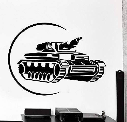 Tianpengyuanshuai Etiqueta engomada del Vinilo del Tanque niño Etiqueta Militar Garaje Papel Decorativo Fresco 56X42cm