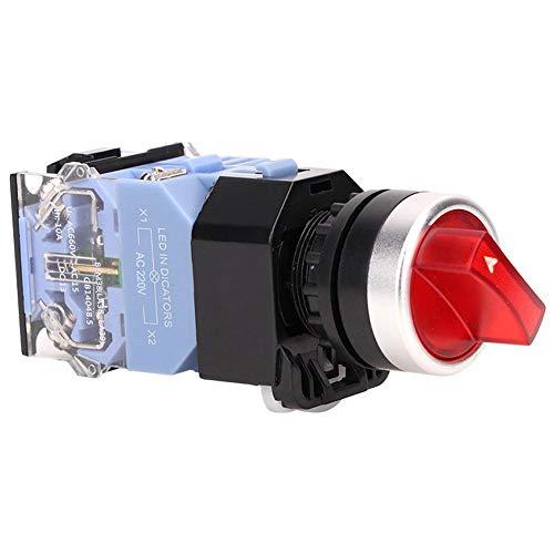 Interruptor de botón de reinicio automático, interruptor de botón momentáneo estable para fábrica para reemplazar para uso general para uso profesional(Red light)