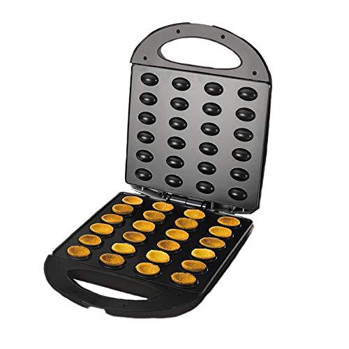 TTZY Elektrischer Walnuss-Kuchenhersteller Automatischer Mini-Nuss-Waffelbrot-Backofen-Frühstücksofen 1400W Eierkuchen-Backofen-Maschine Eu-Stecker, Schwarz, Eu