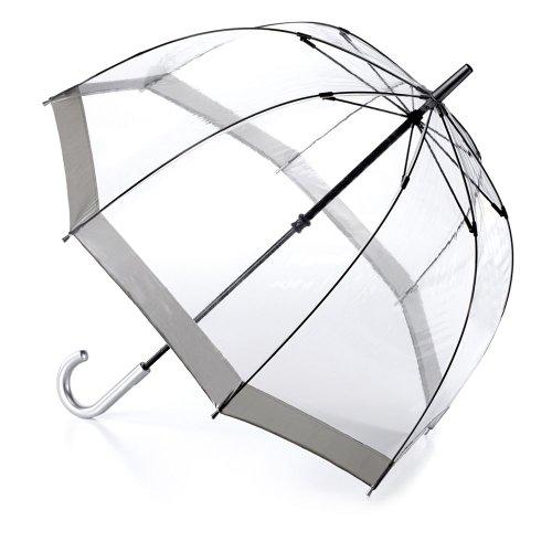 Fulton Birdcage-1 durchsichtige Kuppel -Regenschirm mit silbernen Rand - Neuer Rahmen !