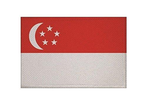 U24 Aufnäher Singapur Fahne Flagge Aufbügler Patch 9 x 6 cm