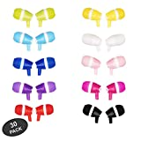 JustJamz Bubbles Colorful Earbud Headphones in Bulk 3.5mm Earbuds for Kids and Adults Assorted Colors, 30 Packs