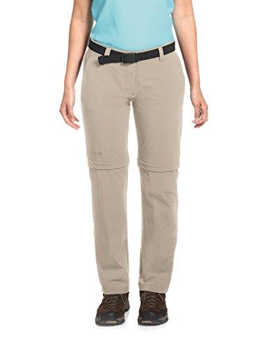 Maier Sports NATA 2 Pantalon convertible zippé pour femme Gris plume Taille 18
