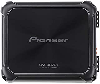 Pioneer GM-D8701 1600W Class D Mono Amplifier with Bass Boost Remote