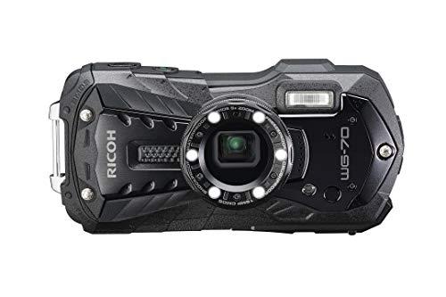 RICOH WG-70 wasserdichte Kamera Hochauflösende Bilder mit 16 MP Wasserdicht bis 14 m Stoßfest bis Fallhöhe von 1,6 m Unterwassermodus Ring mit 6-LEDs für Makroaufnahmen, Orange