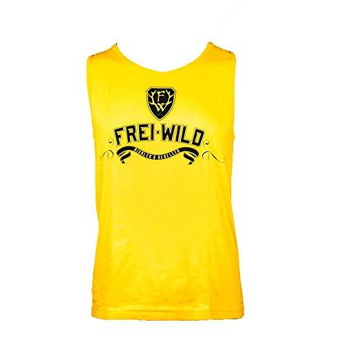 Frei.Wild - R&R, Men-Muskelshirt, Farbe: Gelb, Größe: S