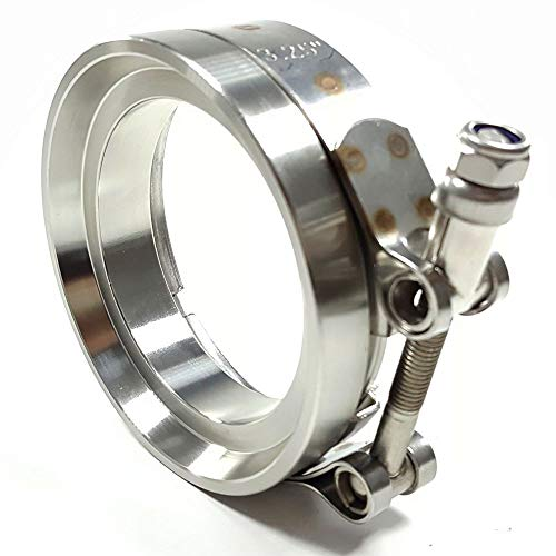 """3.25""""Flange 4"""" Clamp V Band Set For GT45 GT45R Turbo Exhaust Downpipe"""