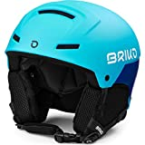 Briko Mammoth Casco de esquí/Snow, Juventud Unisex, Shiny Matt Light Blue BLU, 53-55 cm