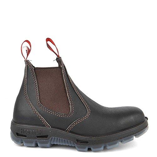 mit schwarzer Sohle Lederwax Claret Brown RedbacK BUSBOK Work Boots Arbeitsschuhe mit Stahlkappe aus Australien Unisex