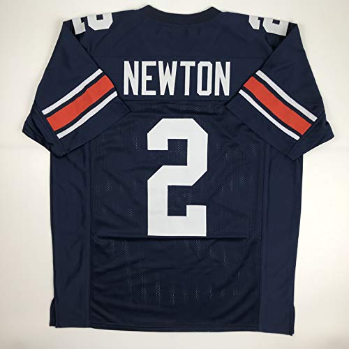 Unsigned Cam Newton Auburn Blue Custom Stitched College Football Jersey Size Men's XL New No Brands/Logos