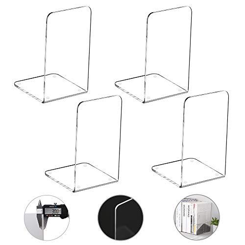MerryNine Plastic Acrylic Bookends Pair Organizer Bookshelf Decor...