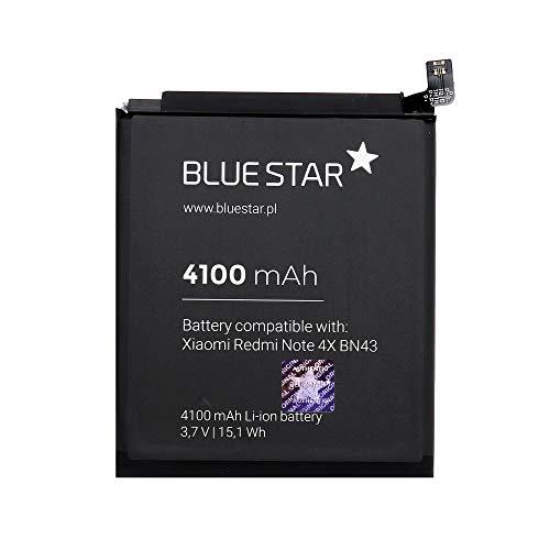 Blue Star Premium - Batería de Li-Ion Litio 4100 mAh de Capacidad Carga Rapida 2.0 Compatible con el Xiaomi Redmi Note 4X (BN43)