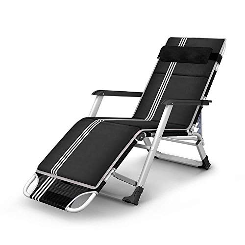 WEI-LUONG Folding Conference Chair Folding Chairs Chaise Lounge Widened Folding Bed Folding Recliner Single Office Lunch Break Chair Outdoor Portable Lounge Chair Recliner