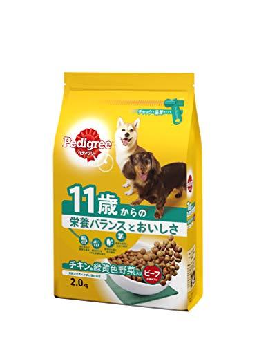 ペディグリー シニア犬用 11歳から ヘルシーチキン&緑黄色野菜入り 2kg [ドッグフード・ドライ]