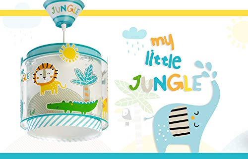 LED Kinderlampe Tiere Giraffe Elefant Krokodiel Palme 76112 Warmweiß 500lm Jungen & Mädchen Kinderzimmerlampe Deckenlampe