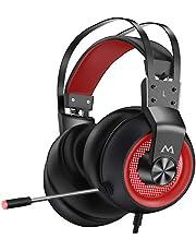 Mpow EG3 Pro Cuffie Gaming,Audio Surround 3D Bass, Cuffie per Computer PS5 PS4 Xbox con Microfono con Cancellazione del Rumore, Cuffie con Ecoscandaglio, Controllo del Volume per Laptop PC Mac Switch