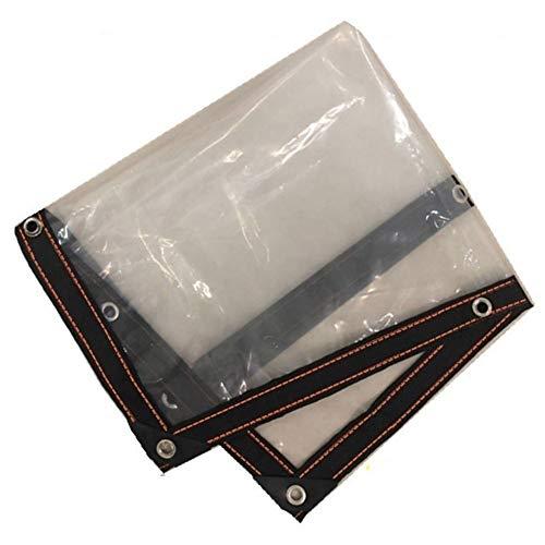 LHR Lona impermeable de vidrio transparente transparente para invernadero, impermeable, impermeable, resistente a la lluvia, cortina protectora para lluvia al aire libre, ojales de metal, 21 tamaños