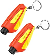VicTsing Window Breaker Seatbelt Cutter, Portable Glass Breaker Keychain for Land & Underwater Emergency, Safety Car Escape Tool, 2 Pack