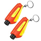 VicTsing Window Breaker Seatbelt Cutter, Portable Glass Breaker Keychain for Land & Underwater Emergency, Safety Car...