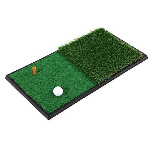 Aynefy - Alfombrilla de entrenamiento para golf, antideslizante, para interior y exterior, con doble tipo de césped de simulación, 10 mm/40 mm