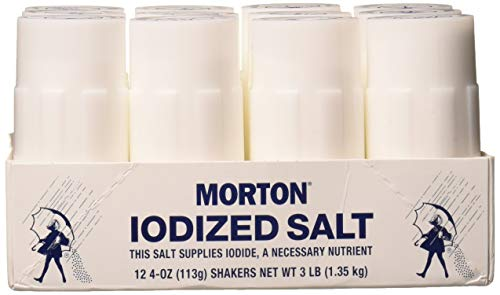 Morton Iodized Salt Shakers, 4 Ounce (Pack of 12)