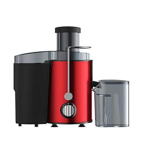 DHE Exprimidor de Acero Inoxidable, exprimidor de Frutas, l cocinar máquina, máquina de Zumo, Rojo, Puerto de alimentación Redonda