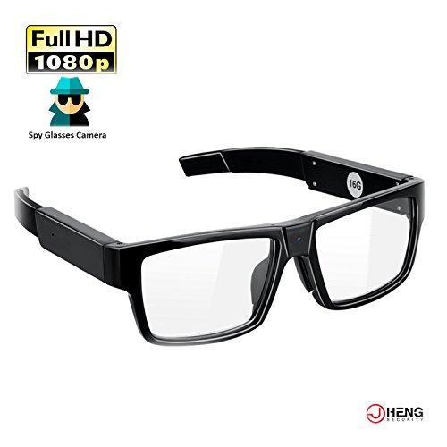JC Gafas de cámara 16GB 1920x1080P Gafas de grabación de Video Gafas Ocultas Cámara espía