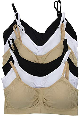 ToBeInStyle Women's Pack of 6 Seamless Cinched Sports Bras