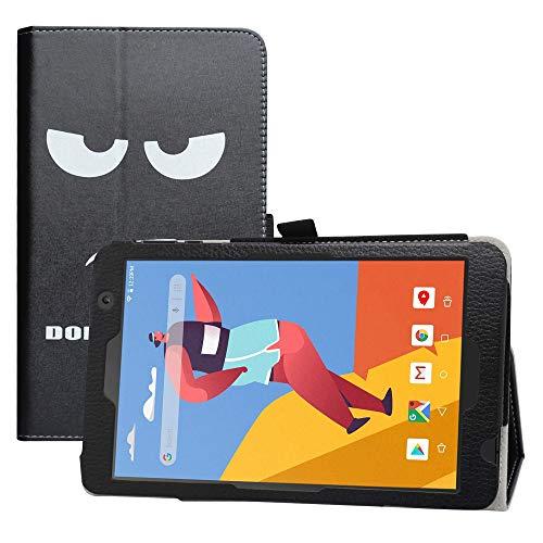 LFDZ MatrixPad S8 Funda,Soporte Cuero con Slim PU Funda Caso Case para 8' VANKYO MatrixPad S8 / Dragon Touch Notepad Y80 Tablet,Don't Touch